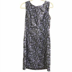 🦀2/$25 Connected Apparel Blue Leaves Dress